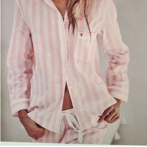 Victoria's Secret Mayfair Pink Stripe Pajama Set